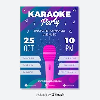 Plantilla de cartel abstracto de karaoke