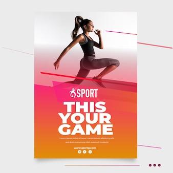 Plantilla de cartel para actividad deportiva.