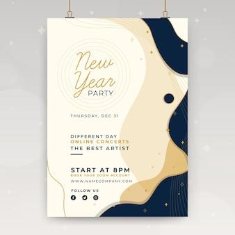 Plantilla de cartel de año nuevo