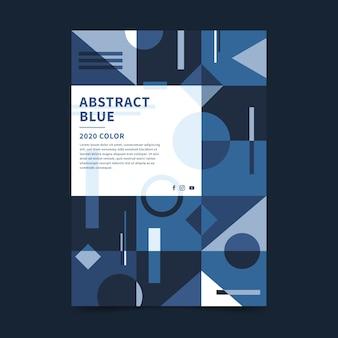 Plantilla de cartel azul clásico abstracto