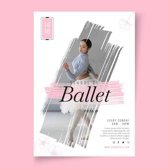 Plantilla de cartel de baile de ballet