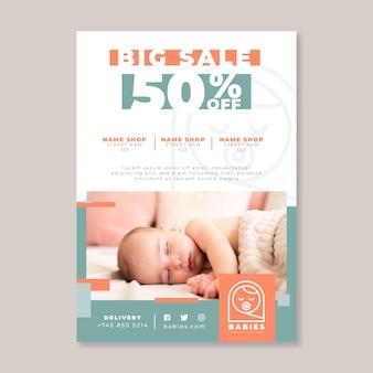 Plantilla de cartel de bebé