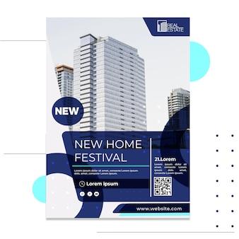Plantilla de cartel de bienes raíces
