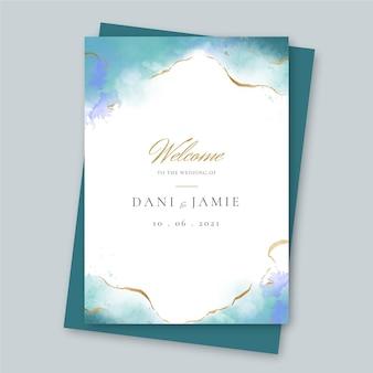 Plantilla de cartel de boda creativo