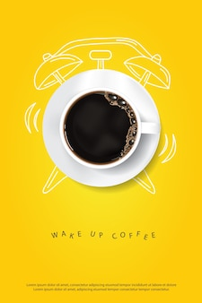 Plantilla de cartel de café