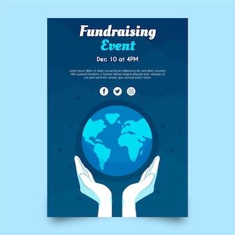 Plantilla de cartel de caridad ambiental