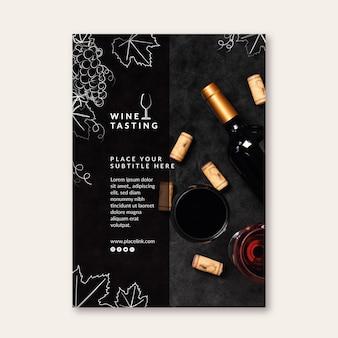 Plantilla de cartel de cata de vinos