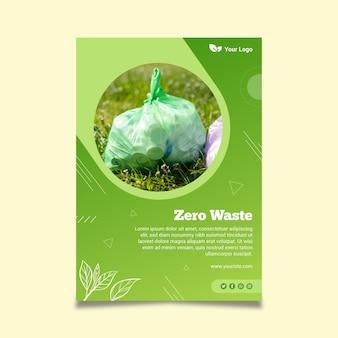 Plantilla de cartel cero residuos