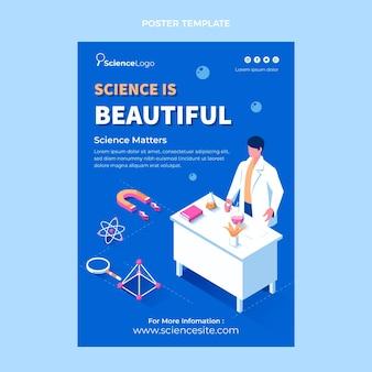 Plantilla de cartel de ciencia plana