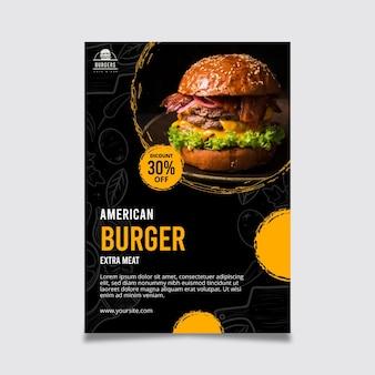 Plantilla de cartel de comida americana