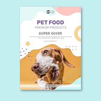 Plantilla de cartel de comida animal