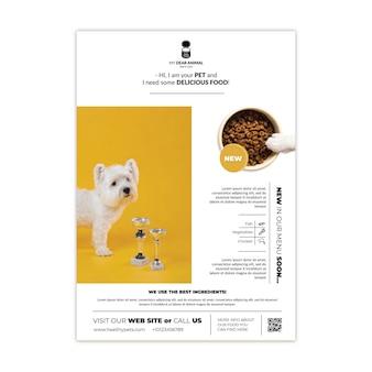 Plantilla de cartel de comida para animales
