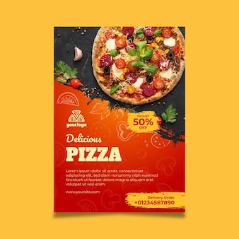 Plantilla de cartel de comida italiana