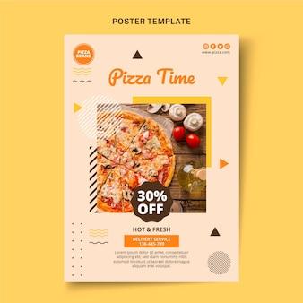 Plantilla de cartel de comida plana
