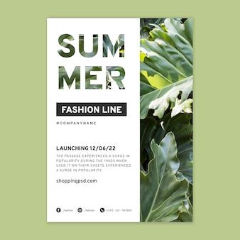Plantilla de cartel de compras online de moda