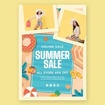 Plantilla de cartel de compras online