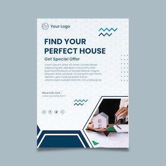 Plantilla de cartel de concepto de bienes raíces