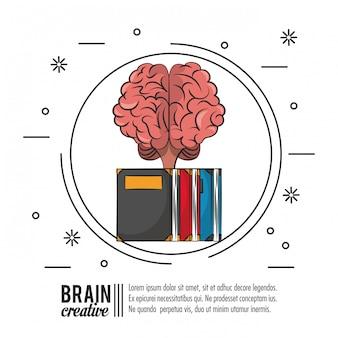 Plantilla de cartel creativo cerebro con información