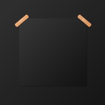 Plantilla de cartel cuadrado en blanco negro