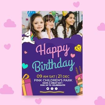 Plantilla de cartel de cumpleaños