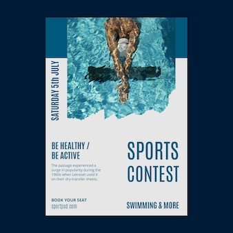 Plantilla de cartel de deportes acuáticos