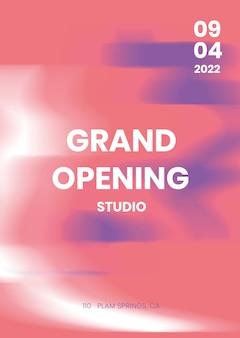 Plantilla de cartel de evento abstracto en rosa para publicidad