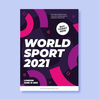 Plantilla de cartel del evento deportivo 2021