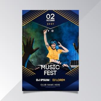 Plantilla de cartel de evento musical 2021