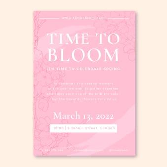 Plantilla de cartel de evento de primavera moderno elegante