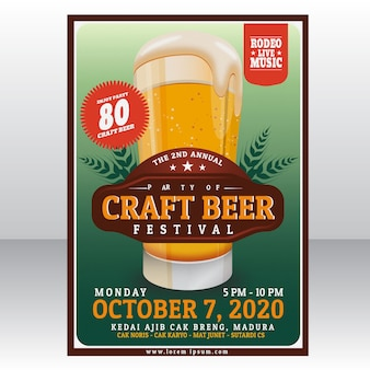 Plantilla del cartel del festival de la cerveza