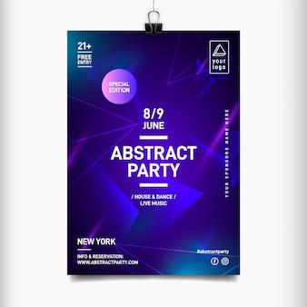 Plantilla de cartel de festival de música abstracta