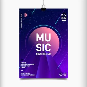 Plantilla de cartel del festival de música de celebración