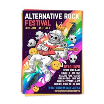 Plantilla de cartel del festival de música
