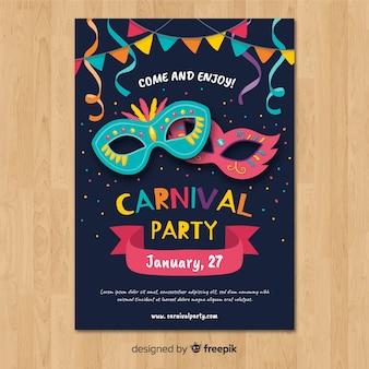 Plantilla de cartel de fiesta de carnaval