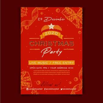 Plantilla de cartel de fiesta de navidad de vitnage