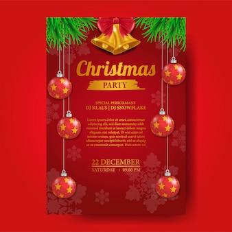 Plantilla de cartel de fiesta de navidad