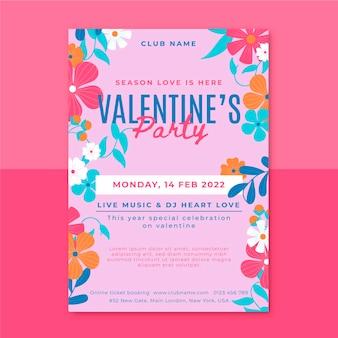 Plantilla de cartel de fiesta de san valentín