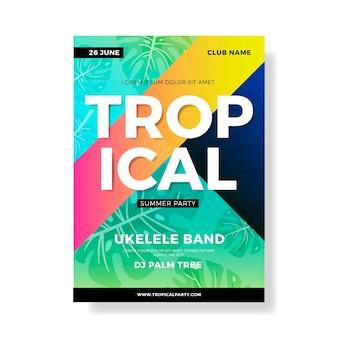 Plantilla para cartel de fiesta tropical