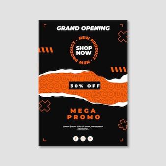 Plantilla de cartel de gran inauguración