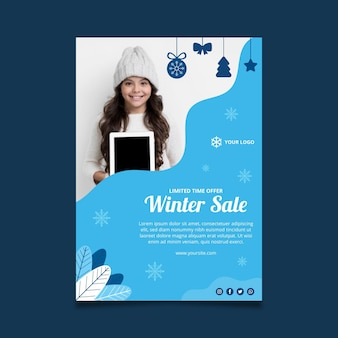 Plantilla de cartel de invierno
