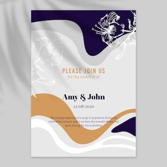 Plantilla de cartel de invitación de boda
