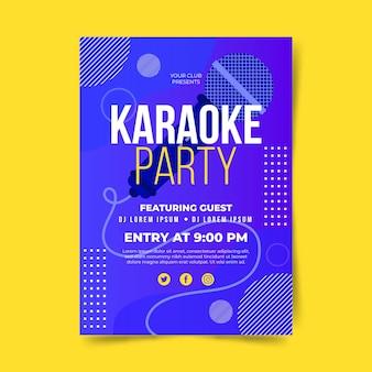 Plantilla de cartel de karaoke abstracto