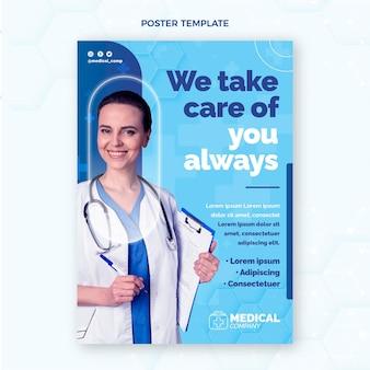 Plantilla de cartel médico plano