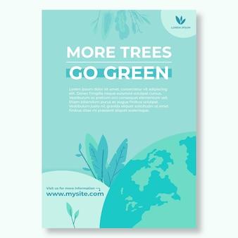 Plantilla de cartel de medio ambiente