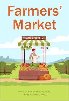 Plantilla de cartel de mercado de agricultores