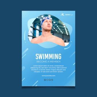 Plantilla de cartel de natación
