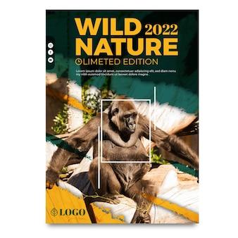 Plantilla de cartel de naturaleza salvaje