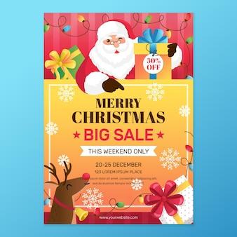 Plantilla de cartel de navidad para ventas