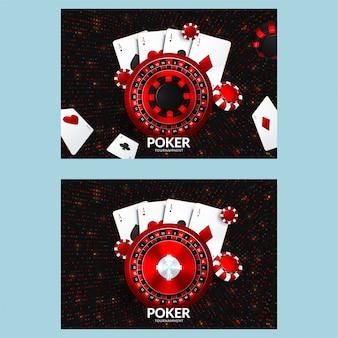 Plantilla de cartel o banner o flyer de casino.