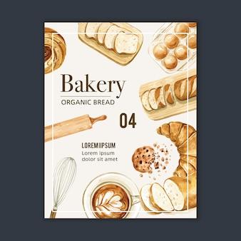 Plantilla de cartel de panadería.